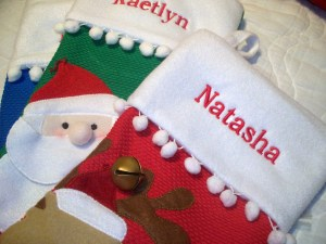 Embroidery for Christmas Stockings